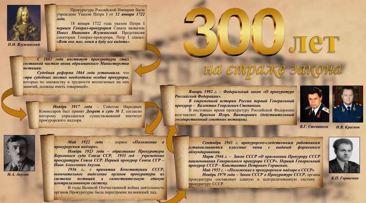 300 лет на страже закона